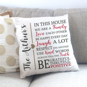 House Rules Personalized Pillow