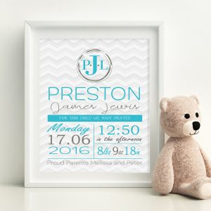 baby boy wall art print